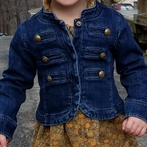 Toddler Girl Size 3 3T Baby Gap Pink Snap Denim Jean Jacket Outerwear
